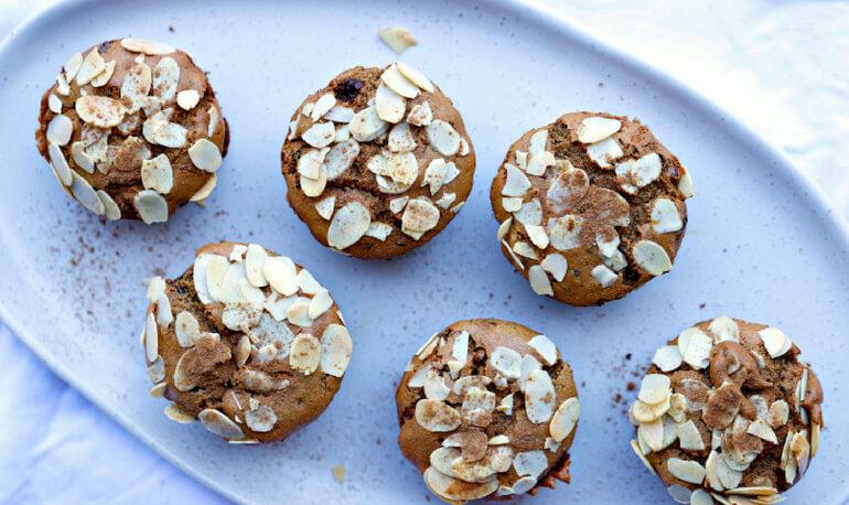 Cinnamon & Date Choc Chip Muffins