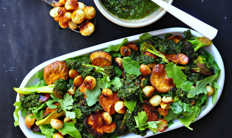 Recipe – Crispy Broccoli Salad With Honey Toasted Macadamia Nuts